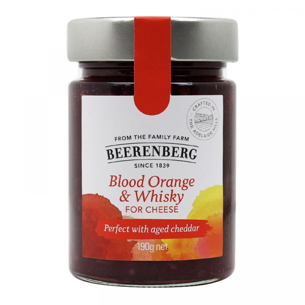 Beerenberg BEERENBERG BLOOD ORANGE & WHISKY FOR CHEESE 190G