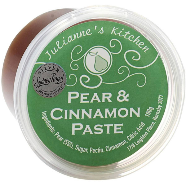 JULIANNE'S KITCHEN PEAR & CINNAMON PASTE 100G 09965290000011.