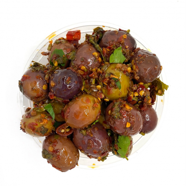 KON'S HOT CHILLI OLIVES
