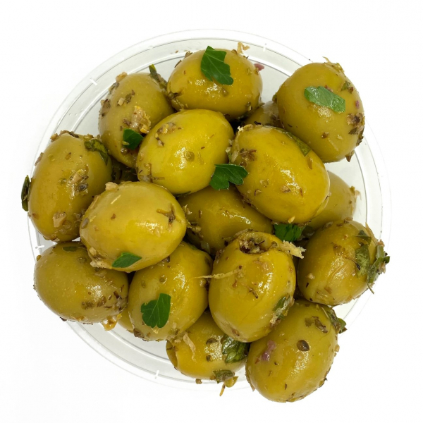MARINATED GREEN OLIVES 00201145000003.