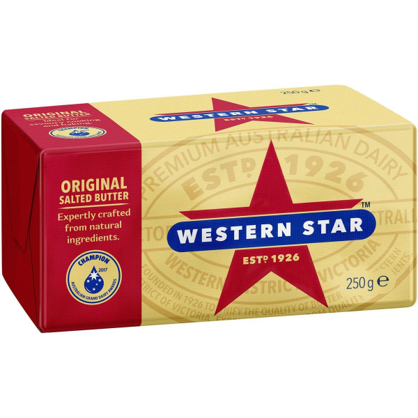 WESTERN STAR BUTTER SALTED 250G