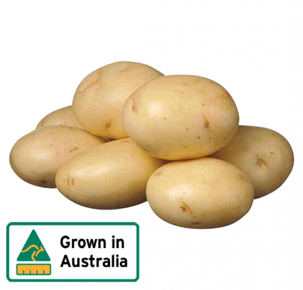 POTATO WASHED 2KG BAG