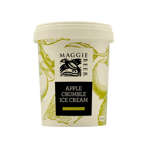MAGGIE BEER APPLE CRUMBLE ICE CREAM 500G 09321325021039.