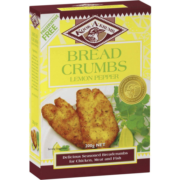 Kookakrumb KOOKAKRUMB LEMON PEPPER BREAD CRUMBS 200G