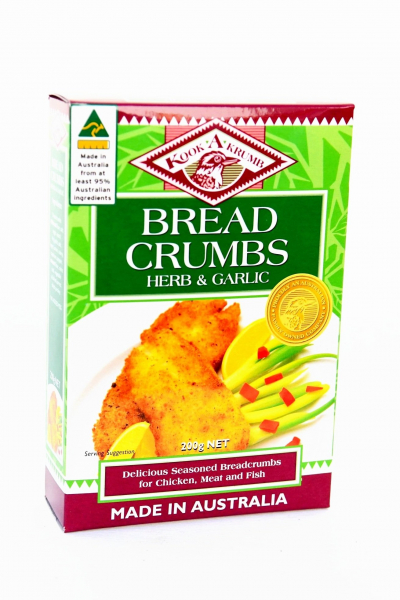 Kookakrumb KOOKRUMB HERB AND GARLIC BREADCRUMBS 200G