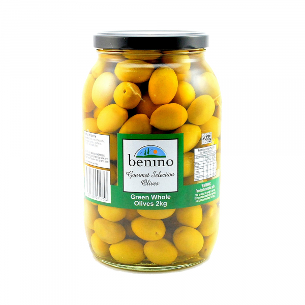 Benino BENINO GREEN WHOLE OLIVES 2KG