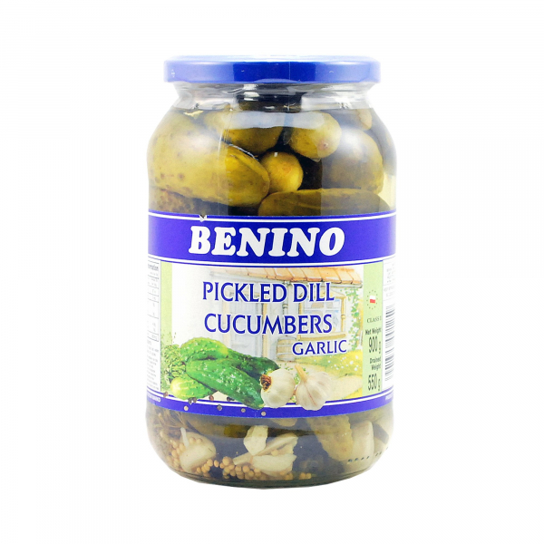 Benino BENINO PICKLED CUCUMBER WITH GARLIC 900G