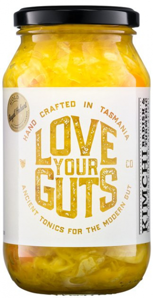 Love Your Guts LOVE YOUR GUTS KIMCHI RADISH AND TUMERIC 250G