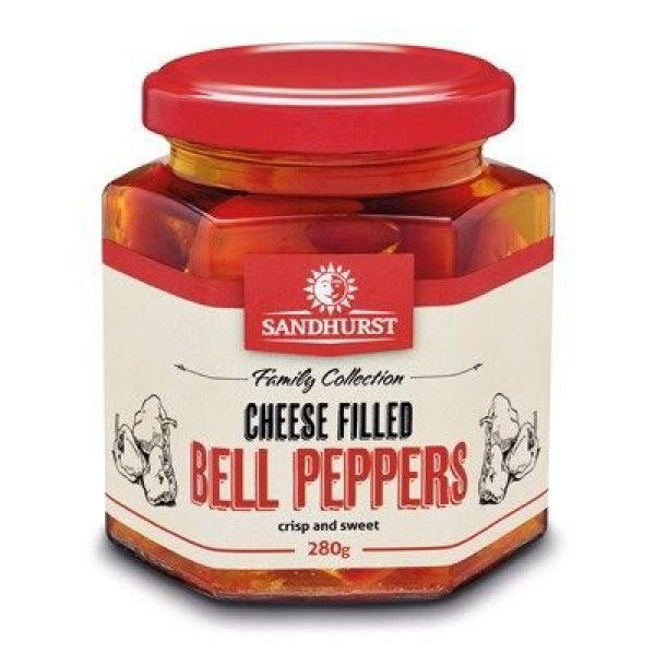 Sandhurst SANDHURST CHEESE FILLED PEPPERS 280G