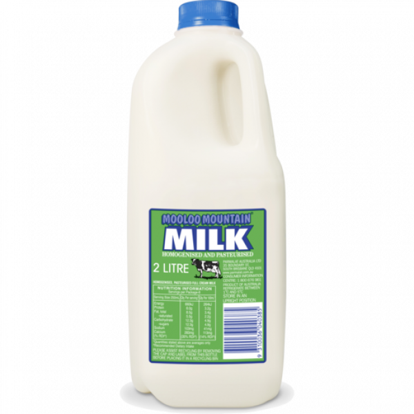 Mooloo MOOLOO FULL CREAM MILK 2LT