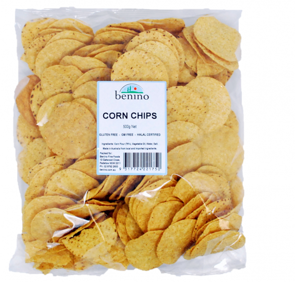 Benino BENINO NATURAL CORN CHIPS 500G