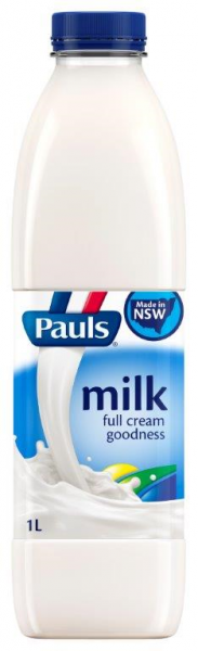 Pauls PAULS MILK FULL CREAM 1LT