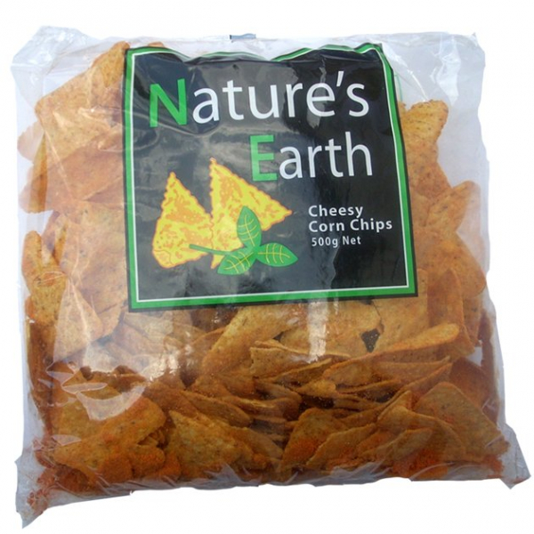 Nature\'s Earth NATURE'S EARTH CHEESY CORN CHIPS 500G