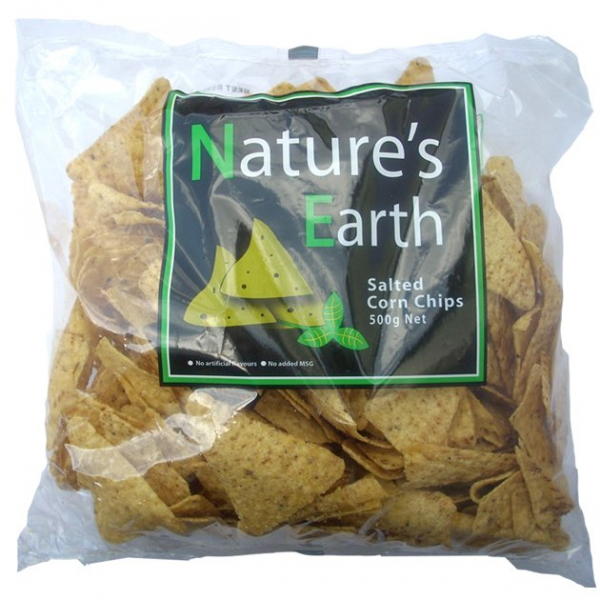 Nature\'s Earth NATURE'S EARTH SALTED CORN CHIPS 500G
