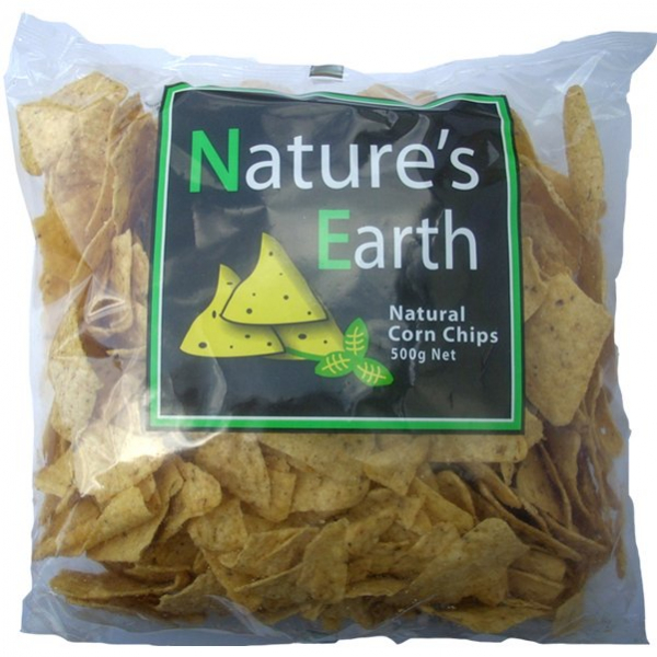 Nature\'s Earth NATURE'S EARTH UNSALTED CORN CHIPS 500G