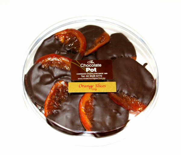 The Chocolate Pot THE CHOCOLATE POT ORANGES DIPPED IN CHOCOLATE 150G