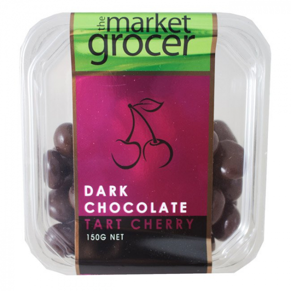 The Market Grocer THE MARKET GROCER DARK CHOCOLATE TART CHERRIES 150G