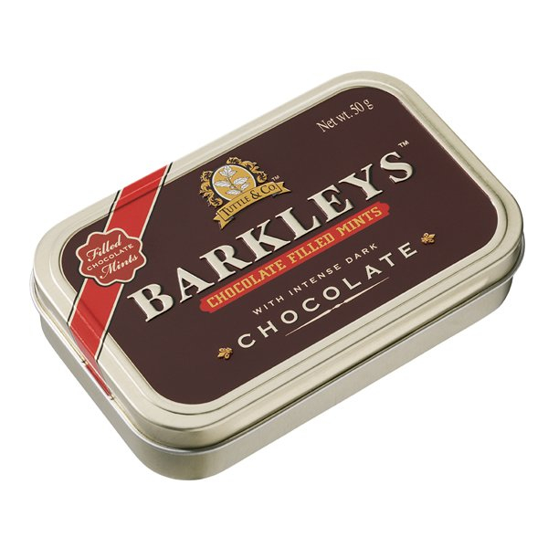 BAKLEY'S CHOCOLATE  FILLED MINTS 50G 08717438742052.