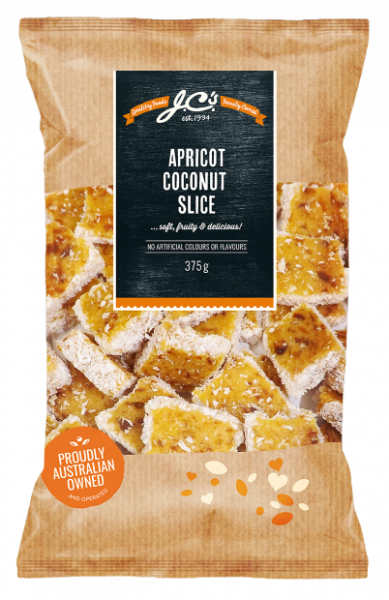 JC\'S Quality Foods JC'S APRICOT & COCONUT SLICE 375G