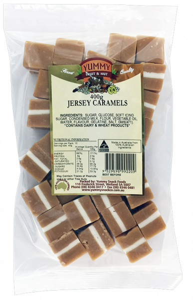 Yummy Snack Foods YUMMY SNACK FOODS JERSEY CARAMELS 250G