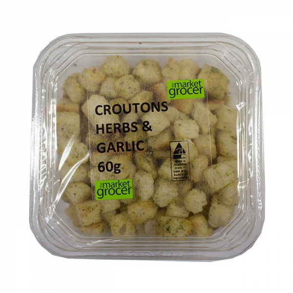 The Market Grocer THE MARKET GROCER CROUTONS HERB & GARLIC 60G