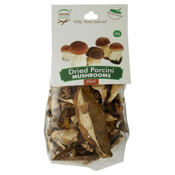 VIKING DRIED SLICED PORCINI MUSHROOMS 40G 09341085000006.