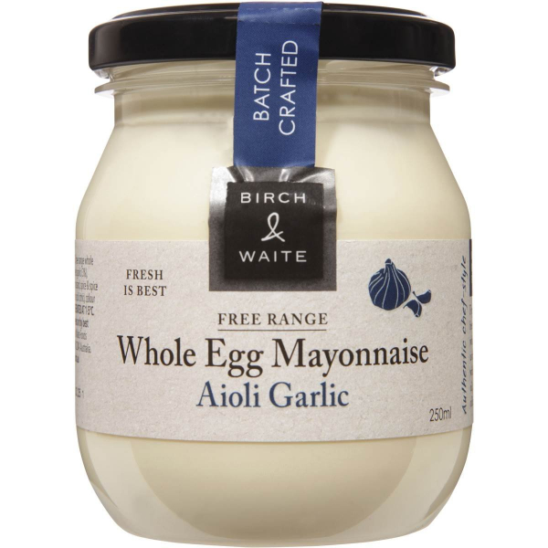 Birch & Waite BIRCH & WAITE AIOLI MAYONNAISE 250ML