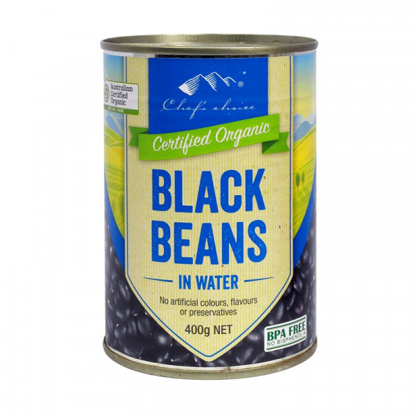 Chef\'s Choice CHEF'S CHOICE ORGANIC BLACK BEANS 400G