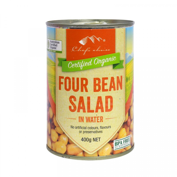 Chef's Choice CHEF'S CHOICE ORGANIC FOUR BEAN SALAD 400G