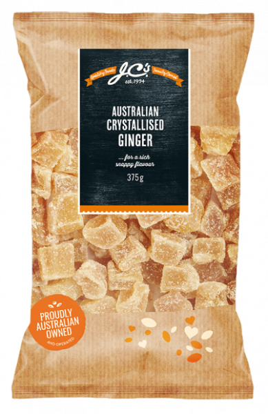 JC'S Quality Foods JC'S AUSTRALIAN CRYSTALLISED GINGER 375G