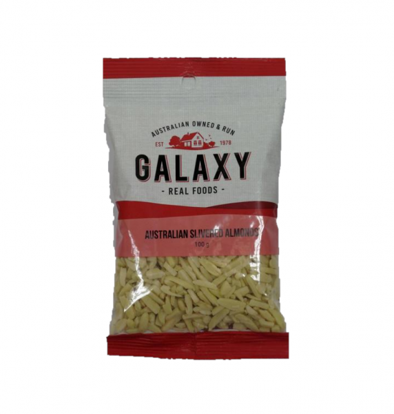 GALAXY SLIVERED ALMONDS 100G 09334908004909.