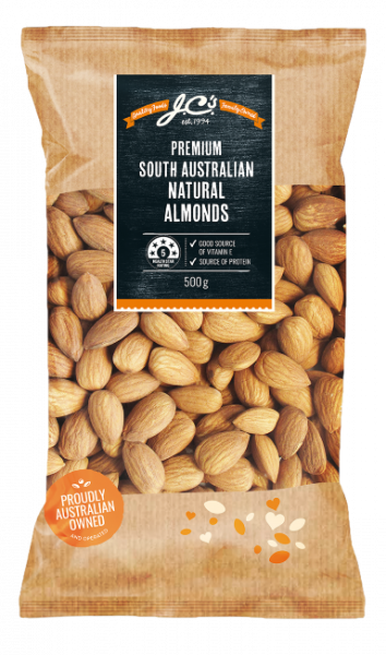 JC\'S Quality Foods JC'S ALMONDS AUSTRALIAN 500G