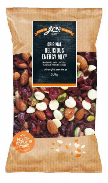 JC\'S Quality Foods JC'S DELICIOUS ENERGY MIX 500GM