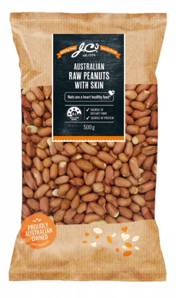 JC\'S Quality Foods JC'S AUSTRALIAN PEANUTS RAW 500G
