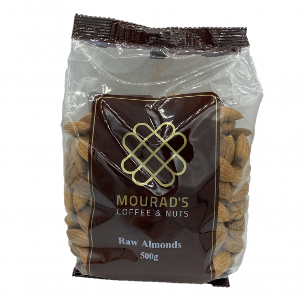 Mourads MOURAD'S RAW ALMONDS 500G