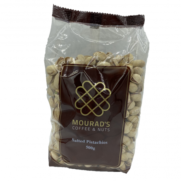 Mourads MOURAD'S ROASED SALTED PISTACHIOS 500G