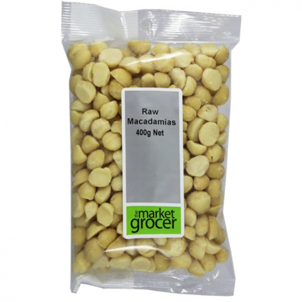 The Market Grocer THE MARKET GROCER RAW MACADAMIAS 400G