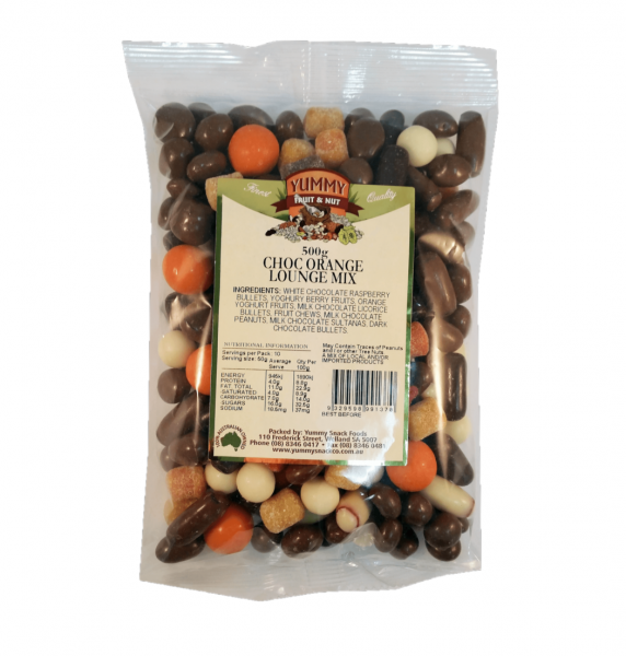 Yummy Snack Foods YUMMY SNACK FOODS CHOCOLATE ORANGE TV LOUNGE MIX 500G
