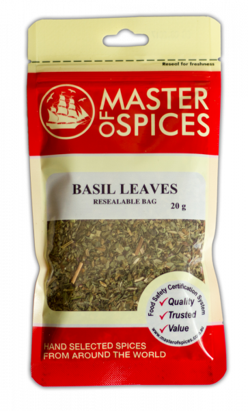 MASTER OF SPICES BASIL LEAVES 09335886003038.