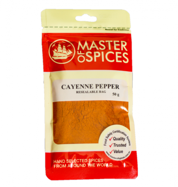 MASTER OF SPICES CAYENNE PEPPER 50G 09335886003090.
