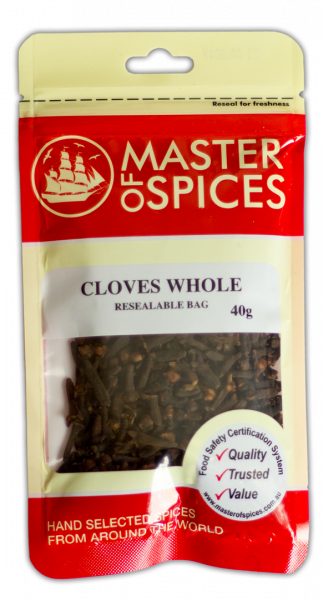 MASTER OF SPICES CLOVES WHOLE 40G 09335886003182.
