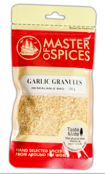 MASTER OF SPICES GARLIC GRANULES 64G 09335886003298.