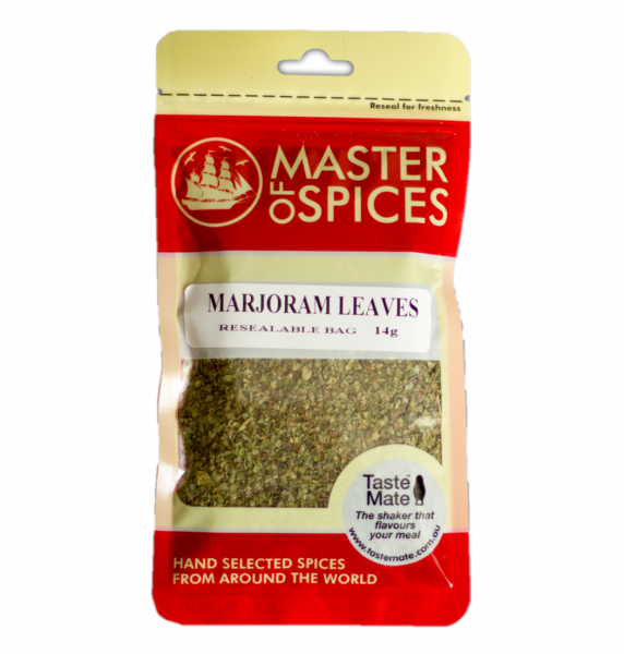 MASTER OF SPICES MARJORAM LEAVES 14G 09335886003366.