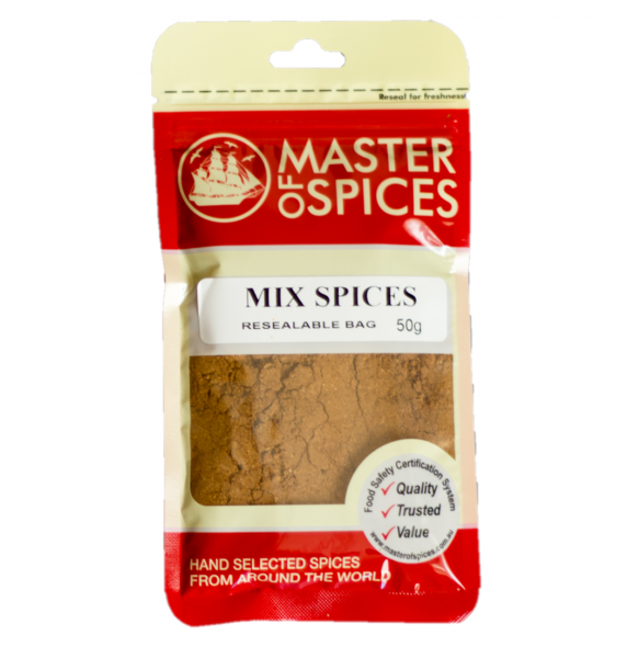 MASTER OF SPICES MIXED SPICES 50G 09335886003397.