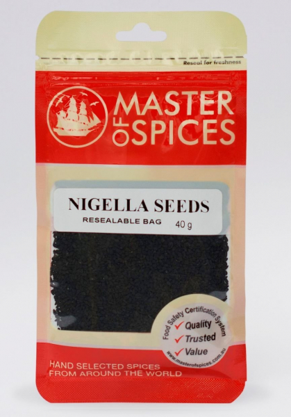 MASTER OF SPICES NIGELLA SEEDS 40GM 09335886005490.
