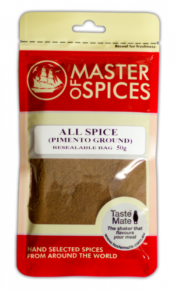 MASTER OF SPICES PIMENTO GROUND- ALL SPICE50G 09335886003823.