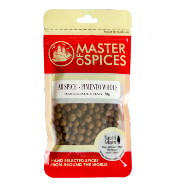 MASTER OF SPICES WHOLE PIMENTO (ALL SPICE) 38G 09335886003571.
