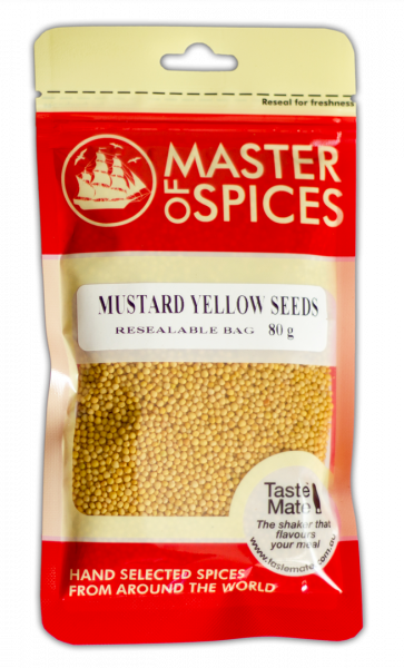 MASTER OF SPICES YELLOW MUSTARD SEEDS 80G 09335886003427.