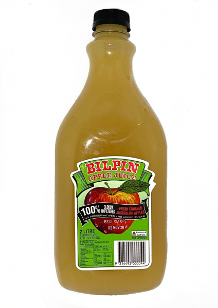 Bilpin Apple Juice BILPIN CLOUDY APPLE JUICE 2LT