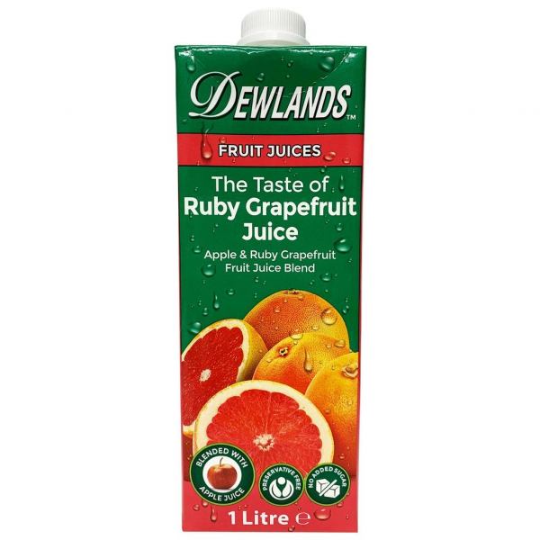 Dewlands DEWLANDS RUBY RED GRAPEFRUIT JUICE 1LT